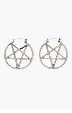 PAMELA LOVE Silver antiqued Mini Pentagram Earrings for women