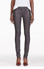 HELMUT HELMUT LANG Grey Coated Skinny Jeans for women