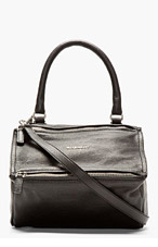 GIVENCHY Black Leather Pandora Shoulder Bag for women