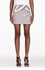 PETER PILOTTO Blue & Red Printed Mini Skirt for women