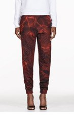 CHRISTOPHER KANE Black Abstract Grid Harem Lounge Pants for women