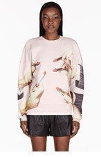 MSGM Pink Lipstick Toilet Paper Edition Sweatshirt for women