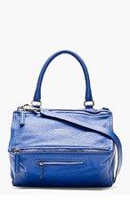 GIVENCHY Blue Leather Pandora Shoulder Bag for women