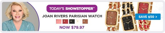 Joan Rivers Parisian Watch