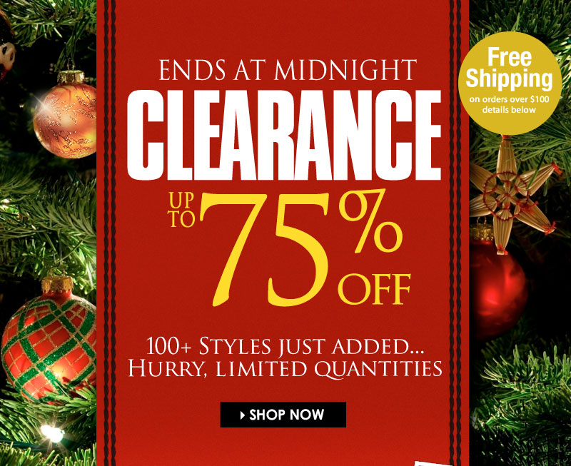 Holiday STEALS! Up to 75% OFF, new styles just added! SHOP NOW!