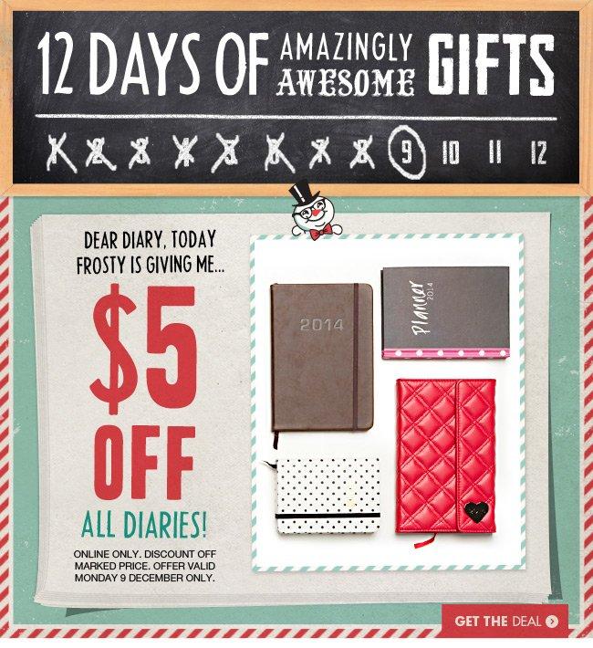 $5 off Diaries