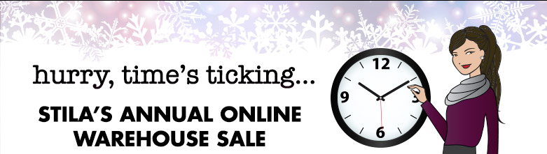 hurry, time's ticking... stila's annual online warehouse sale