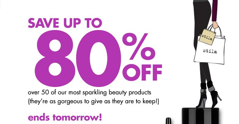 save up to 80% off an array of our most sparkling beauty products get shopping!