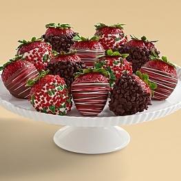 Full Dozen Gourmet Dipped Christmas Strawberries