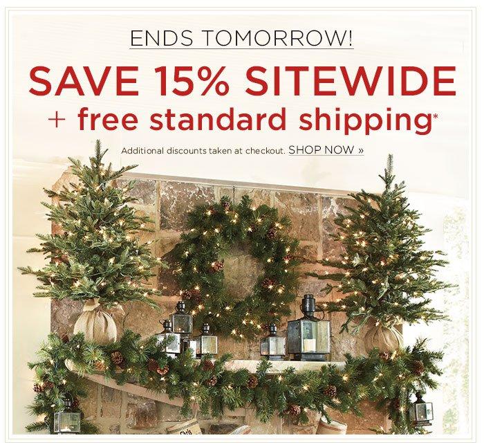 Save 15% plus Free Shipping