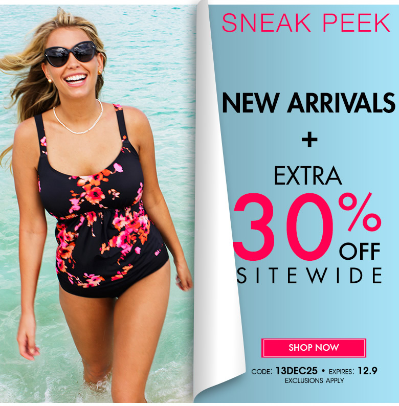 Sneak Peek: New Arrivals + Extra 30% off Sitewide - use code: 13DEC25 - shop now