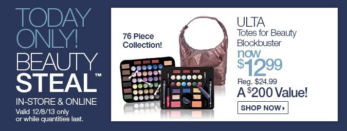 TODAY ONLY! ULTA Blockbuster Beauty 76 Piece Collection $12.99 (A $200 Value)