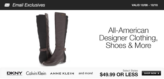 All-American Designer Clothing, Shoes and More