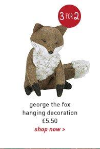 george the fox hanging decoration