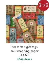 5m tartan gift tags roll wrapping paper