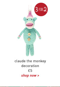claude the monkey decoration