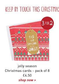 jolly season christmas card - pack of 8