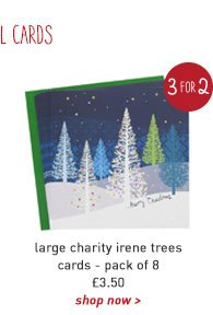 large charity irene trees cards - pack of 8