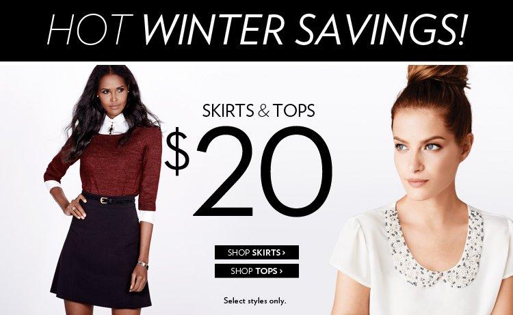Skirts & tops $20.