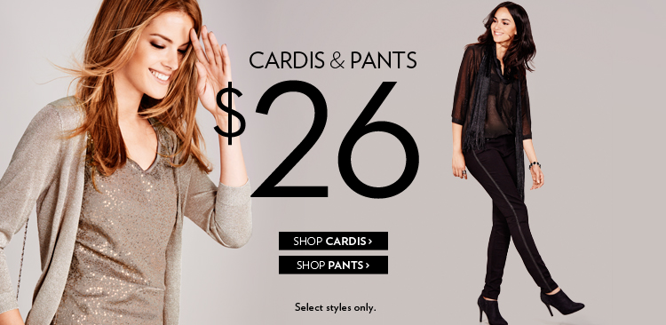 Cardis & pants $26.