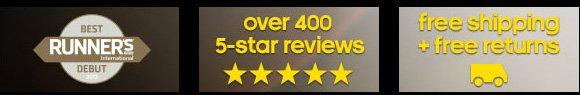 Best Runner's International Debut. over 400 5-star reviews. free shipping + free returns