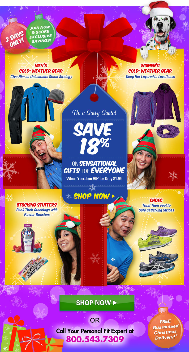 Be a Savy Santa! Save 18% on Sensational Gifts for Everyone