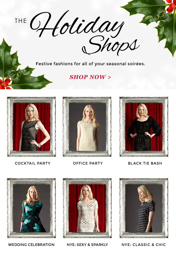 Festive Fashions in our Holiday Shops!