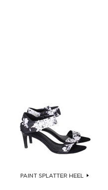 Paint Splatter Heel