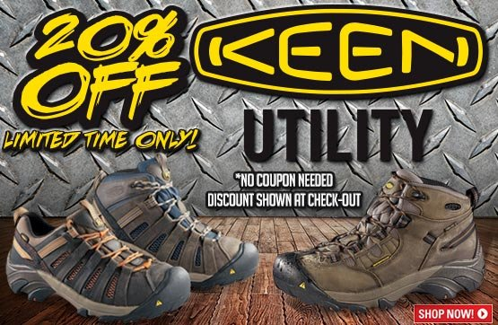 20% Off Keen Utility!