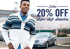 Shop Extra 20% Off: Super Soft Sweaters