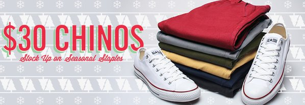 Shop $30 Chinos: Stock Up on Staples