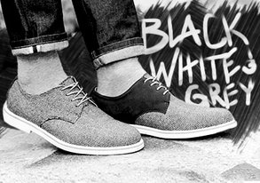 Shop Black, White & Grey Footwear