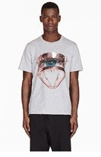 MSGM Grey Toilet Paper Magazine Edition T-shirt for men