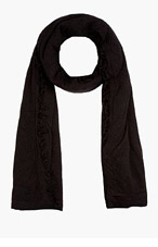 RICK OWENS Black Knit Blanket Scarf for men