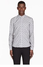 KENZO Grey mini-EYE JACQUARD shirt for men