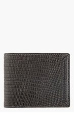 ALEXANDER MCQUEEN Black Heroic Leather Money Clip Wallet for men