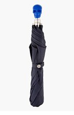 ALEXANDER MCQUEEN Navy & Cobalt Skull Umbrella for men
