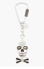 PAUL SMITH Silver Dressed Skull pendant keychain for men