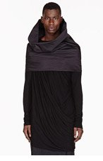 RICK OWENS Grey structured convertible tube SCARF for men