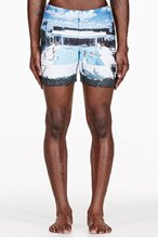 ORLEBAR BROWN Blue Goodman's Gracious printed BULLDOG swim shorts for men