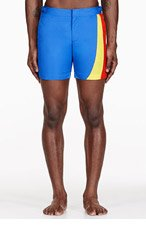 ORLEBAR BROWN Blue colorblocked Prost Ocean BULLDOG swim shorts for men
