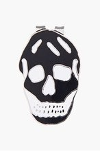 ALEXANDER MCQUEEN Black ENAMEL SKULL MONEY CLIP for men