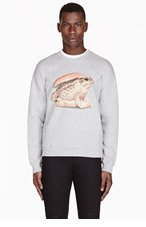 MSGM Grey Toad Burger Toilet Paper Magazine Edition Sweater for men