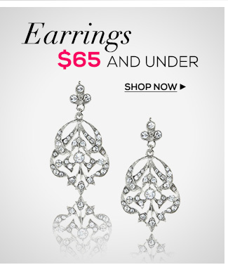 Earrings $65 and under