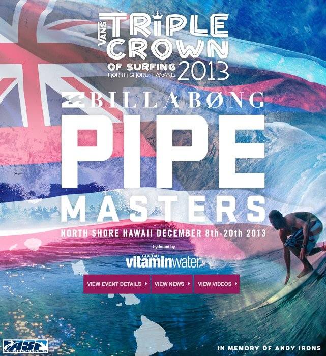 Follow the Action - Billabong Pipe Masters starts Today!