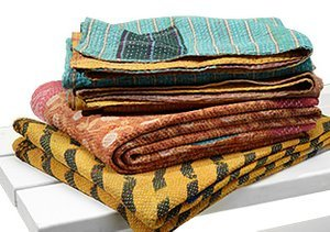 Colorful One-of-a-Kind Kantha Throws