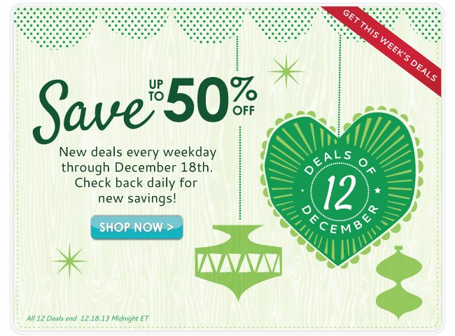 Save with 12 Deals of December!