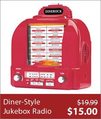 Diner-Style Jukebox Radio