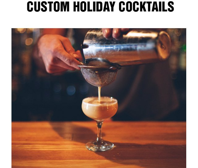 Custon Holiday Cocktails