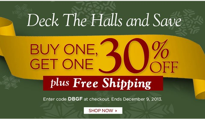 Deck the halls and save